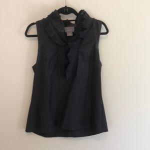 Lk NEW KENAR 💯 % silk black blouse top Sz. medium